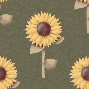 Golden Sunflowers Prim Style