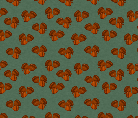 Acorns fabric by cherie on Spoonflower - custom fabric