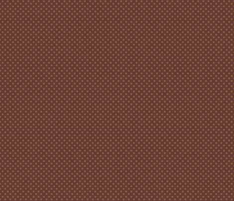 Prim Polka Dots on Dark Rust Brown fabric by cherie on Spoonflower - custom fabric
