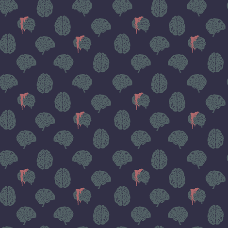 Zombie brain polka dots - colorway 02 fabric by aliceelettrica on Spoonflower - custom fabric
