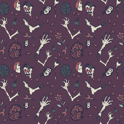 zombie apocalypse - colorway 02 fabric by aliceelettrica on Spoonflower - custom fabric