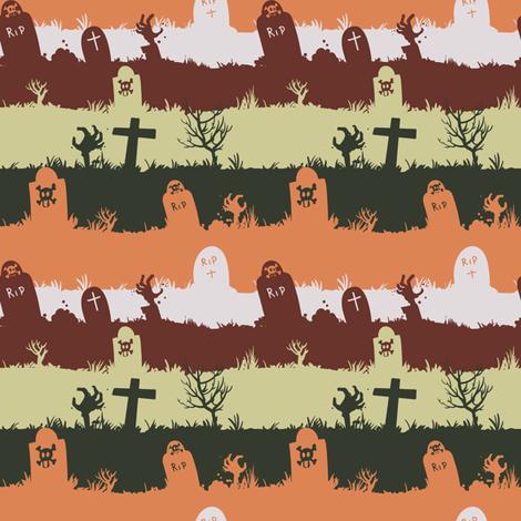 zombie graveyard - colorway 03 fabric by aliceelettrica on Spoonflower - custom fabric