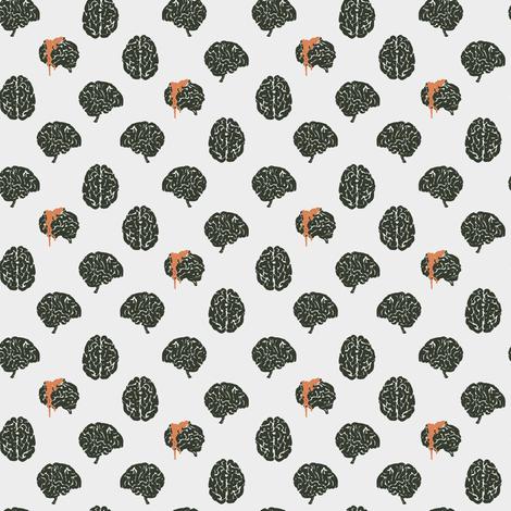 Zombie brain polka dots - colorway 03 fabric by aliceelettrica on Spoonflower - custom fabric