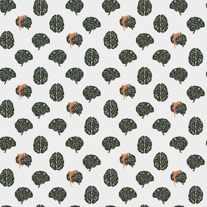 Zombie brain polka dots - colorway 03