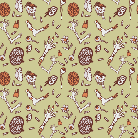 zombie apocalypse - colorway 03 a fabric by aliceelettrica on Spoonflower - custom fabric