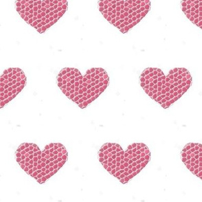 Large Mosaic Hearts (white background)