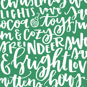 Holiday Favorite Things - White on Green
