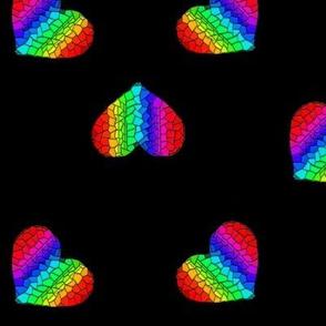 Rainbow Mosaic Hearts