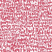 Holiday Favorite Things - Red on White