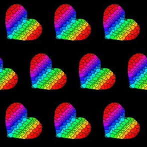 Rainbow Mosaic Hearts (tilt)