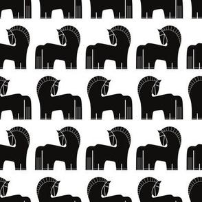 Nordic - horses in Black White