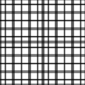 Black and White Graph Plaid