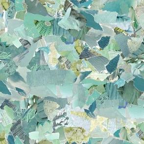 Ripped Paper Aqua Mint