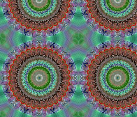 Space_Flowers_kalejdoskope_08 fabric by stradling_designs on Spoonflower - custom fabric