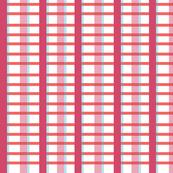 2016 Spring Fabric Pink and Blood Orange Plaid Large Print