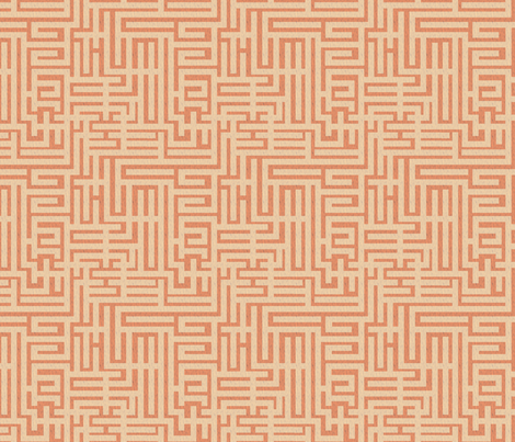 a-maze-ing - papaya whip fabric by glimmericks on Spoonflower - custom fabric