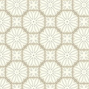 White Flowers Geometric