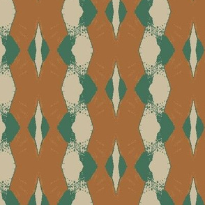 Brown Vertical Stripe With Green