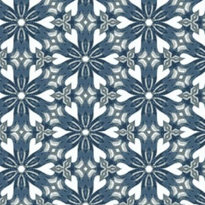 Delicate Blue Snowflakes