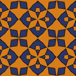 Orange and Blue Pinwheels