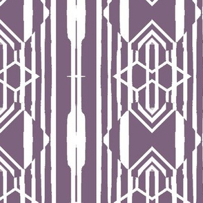 Modern Tribal in Purple and White