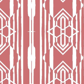 Modern Tribal in Pink and White