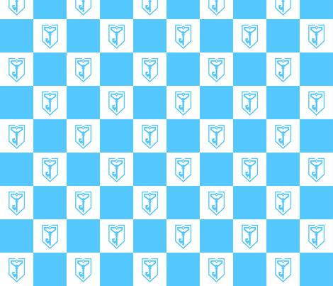 Ingress Resistance Checkered Fabric fabric by rcain on Spoonflower - custom fabric