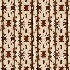 nouveau brown grass columns