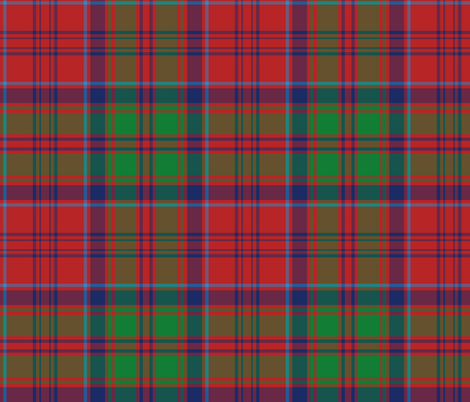 Grant tartan - red / green / navy fabric by weavingmajor on Spoonflower - custom fabric