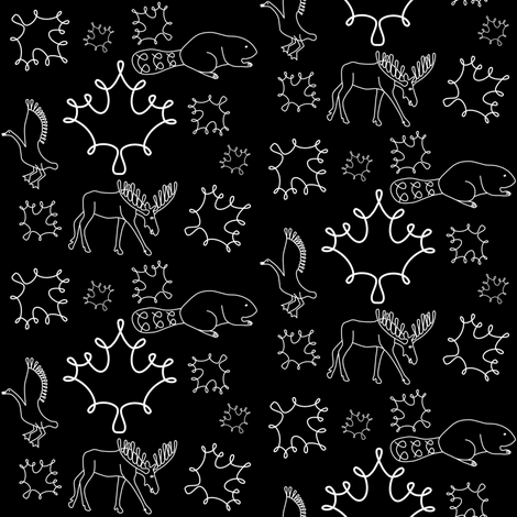 Loopy animals fabric by loopy_canadian on Spoonflower - custom fabric