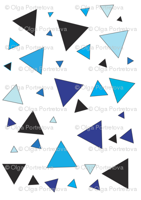 Blue triangular chaos