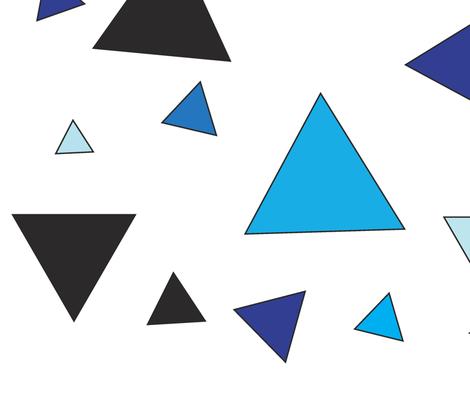 Blue triangular chaos fabric by kittyrolla on Spoonflower - custom fabric