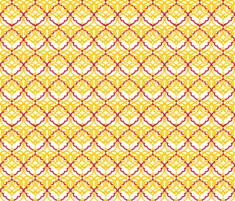 Scrollwork Beads Flowering Earth 1 fabric by alchemiedesign on Spoonflower - custom fabric