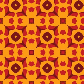Crimson and Yellow Geometric
