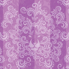 Purple Damask Lion