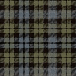 "Black Watch tartan, 6"" weathered"