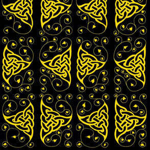 triknot leafy border 1 gold & black