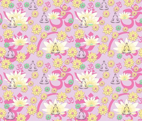 Yoga and Meditation To Relieve Stress fabric by gargoylesentry on Spoonflower - custom fabric