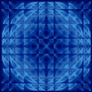 Blended Blue Caribbean Glass Pillow Top