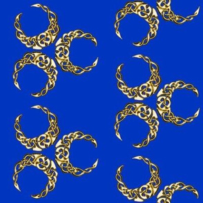 triple celtic crescent blue