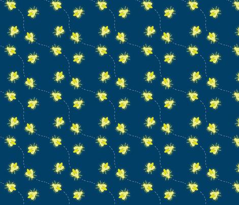 Fireflies in Flight fabric by verystarry on Spoonflower - custom fabric