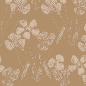 Floral Print on Brown