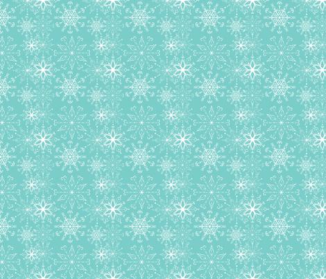 Dainties Aqua fabric by argenti on Spoonflower - custom fabric