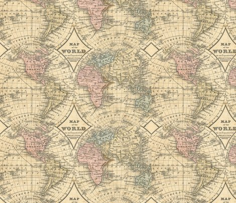 Old world map wallpaper hollydavidson spoonflower design oldworldmapcropped2shoppreview old world map fabric by hollydavidson gumiabroncs Choice Image