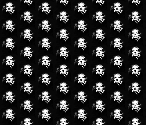 Lola - Black and white fabric by hollywood_royalty on Spoonflower - custom fabric