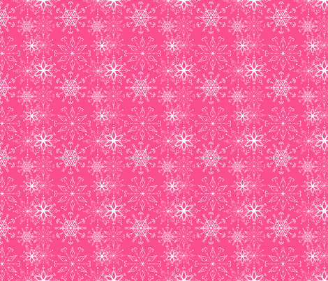Dainties Bold Pink fabric by argenti on Spoonflower - custom fabric