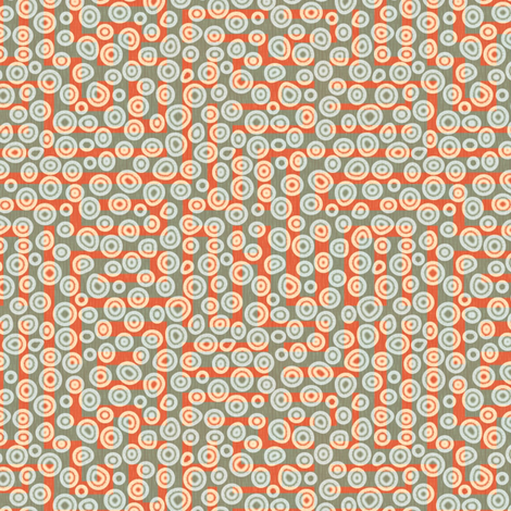 a-maze-ing - coral bubbles fabric by glimmericks on Spoonflower - custom fabric