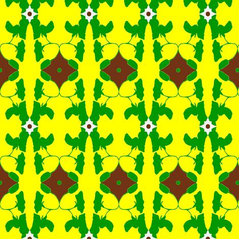 turquoise lime sweet pea-ed-ed-ed-ch-ch-ed-ch-ed-ed-ed-ch fabric by kumate on Spoonflower - custom fabric