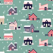 Teal-christmas-house-fabric_shop_thumb