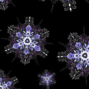 filigree snowflake scatter in purple